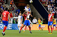 Harrison, NJ - Friday Sept. 01, 2017: Celso Borges, Tim Ream during a 2017 FIFA World Cup Qualifier between the United States (USA) and Costa Rica (CRC) at Red Bull Arena.