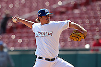 Buffalo Bisons pitcher Brad Holt #51 delivers a pitch during a game against the Lehigh Valley IronPigs at Coca-Cola Field on April 19, 2012 in Buffalo, New York.  Lehigh Valley defeated Buffalo 8-4.  (Mike Janes/Four Seam Images)