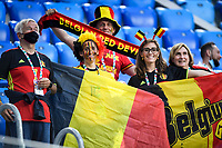 ST PETERSBURG, RUSSIA - JUNE 12 :  Belgian fans pictured before the 16th UEFA Euro 2020 Championship Group B match between Belgium and Russia on June 12, 2021 in St Petersburg, Russia, 12/06/2021 <br /> Photo Photonews / Panoramic / Insidefoto <br /> ITALY ONLY