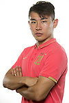 Yu Hanchao of Guangzhou Evergrande poses for the official photo prior to the Guangzhou Evergrande vs Gamba Osaka match as part the AFC Champions League 2015 Semi Final 1st Leg match on September 29, 2015 at  Tianhe Sport Center in Guangzhou, China. Photo by Aitor Alcalde / Power Sport Images