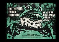 BNPS.co.uk (01202) 558833. <br /> Pic: SpecialAuctionServices/BNPS<br /> <br /> Frogs, is described as a Slithering Slimy Horror<br /> <br /> A collection of rare movie posters that have been sat gathering dust in a garage have sold at auction for £6,500.<br /> <br /> The 32 sheets date from the 1950s to the '70s and promote classic movies such as Frankenstein and Christopher Lee's Dracula.<br /> <br /> The vendor had owned the posters for several years after she had inherited them from a relative.