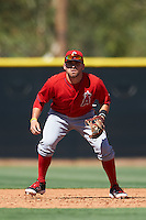 Los Angeles Angels of Anaheim Cody Ramer (20) during an Instructional League game against the Colorado Rockies on October 6, 2016 at the Tempe Diablo Stadium Complex in Tempe, Arizona.  (Mike Janes/Four Seam Images)