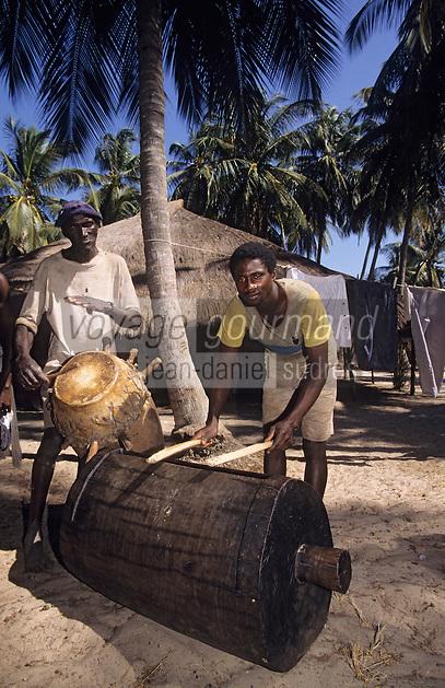 Afrique/Afrique de l'Ouest/Sénégal/Basse-Casamance/Kachouane : Danses traditionnelles Diola - Musiciens