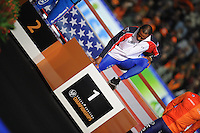SCHAATSEN: HEERENVEEN: IJsstadion Thialf, 14-02-15, World Single Distances Speed Skating Championships, Podium 1000m Men, Shani Davis (USA), ©foto Martin de Jong