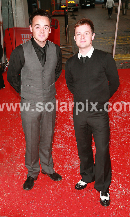 **ALL ROUND PICTURES FROM SOLARPIX.COM**.*WORLDWIDE SYNDICATION RIGHTS*.Ant and Dec.Simon Cowell's 'This is Your Life' arrivals at South Bank, London..JOB REF:  4007  GMT   DATE:  27.05.07.**MUST CREDIT SOLARPIX.COM OR DOUBLE FEE WILL BE CHARGED* *UNDER NO CIRCUMSTANCES IS THIS IMAGE TO BE REPRODUCED FOR ANY ONLINE EDITION WITHOUT PRIOR PERMISSION*