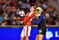 Sandy, UT - October 19, 2016: The USWNT take a 4-0 lead over Switzerland in second half action during an international friendly game at Rio Tinto Stadium.