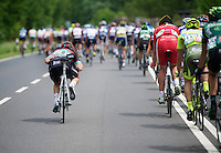 Giacomo Nizzolo (ITA) 'gliding' through the peloton<br /> <br /> 2013 Tour of Luxemburg<br /> stage 1: Luxembourg - Hautcharage (184km)