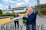 Dr Brendan O'Donnell new Interim President of Institute of Technology Tralee and Student Union president Petrina Comerford celebrate the announcement that The Institute of Technology Tralee and Cork Institute of Technology are coming together to create Munster Technological University.