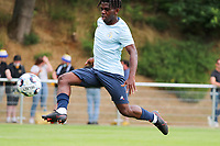 Pedro Lubamba (29) of Union in action during the warm up before from a preseason friendly soccer game between Tempo Overijse and Royale Union Saint-Gilloise, Saturday 29th of June 2021 in Overijse, Belgium. Photo: SPORTPIX.BE   SEVIL OKTEM