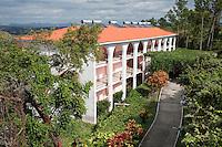 Cuba, Pinar del Rio Region, Viñales (Vinales) Area.  Solar Energy Panels on Roof of Hotel.