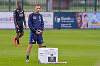 physiotherapist Tristan Blyckaerts of Sporting Charleroi pictured before a friendly soccer game between Zulte Waregem and Sporting Charleroi during the preparations for the 2021-2022 season , on Saturday 10 th of July 2021 in Ingelmunster , Belgium . PHOTO STIJN AUDOOREN   SPORTPIX