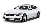 2018 BMW 4 Series Gran Coupe 430i 5 Door Hatchback angular front stock photos of front three quarter view