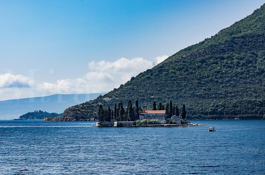 St. George island with former Benedictine monastery,  Ostrvo Sveti Đorđe, Bay ofKotor, Montenegro
