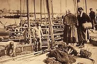 Europe/France/Bretagne/29/Finistère/Le Guilvinec: Retour de peche - Ancienne carte postale vers 1930