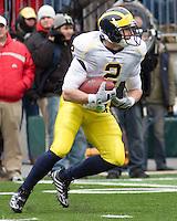 November 22, 2008. Michigan running back Sam McGuffie. The Ohio State Buckeyes defeated the Michigan Wolverines 42-7 on November 22, 2008 at Ohio Stadium, Columbus, Ohio.