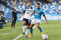 Alejandro Dario Gomez of Atalanta BC and Matteo Politano of SSC Napoli compete for the ball<br /> during the Serie A football match between SSC Napoli and Atalanta BC at stadio San Paolo in Napoli (Italy), October 17th, 2020. <br /> Photo Cesare Purini / Insidefoto