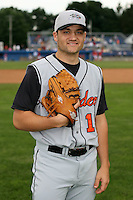 July 14th 2008:  Nick Haughian of the Aberdeen Ironbirds, Class-A affiliate of the Baltimore Orioles, during a game at Dwyer Stadium in Batavia, NY.  Photo by:  Mike Janes/Four Seam Images