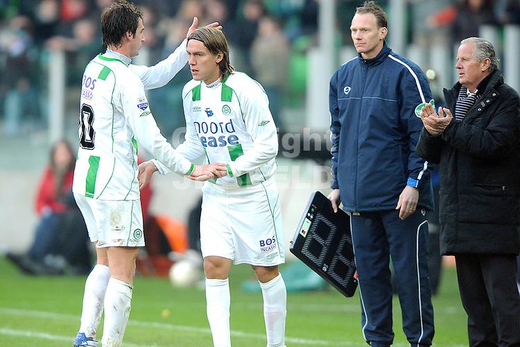 fc groningen - az eredivisie seizoen 2007-2008 17-02-2008.matias cahais maakt debuut.fotograaf Jan Kanning *** Local Caption ***