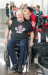 Jim Armstong and Linda Ferguson, Sochi 2014.<br /> Team Canada arrives at the airport in Sochi for the Sochi 2014 Paralympic Winter // Équipe Canada arrive à l'aéroport de Sotchi pour Sochi 2014 Jeux paralympiques d'hiver. 03/03/2014.
