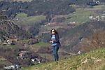 Near Castelrotto along drive to Val Gardena, Italy,