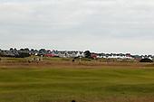A view across the Carnoustie Championship Links towards the hotelduring the first round play of the  Ricoh Woman's British Open to be played over the Championship Links from 28th to 31st July 2011; Picture Stuart Adams, SAFOTO. www.safoto.co.uk; 28th July 2011