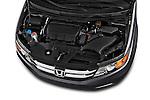 High angle engine detail of a 2017 Honda Odyssey EX-L