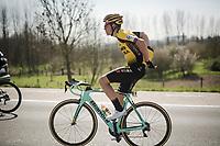 Wout Van Aert (BEL/Jumbo-Visma)<br /> <br /> 62nd E3 BinckBank Classic (Harelbeke) 2019 <br /> One day race (1.UWT) from Harelbeke to Harelbeke (204km)<br /> <br /> ©kramon