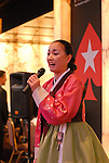 A Korean folk song was performed during the opening ceremonies.
