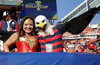 Cleveland, OH - Saturday July 15, 2017: USA supporters during a 2017 Gold Cup match between the men's national teams of the United States (USA) and Nicaragua (NCA) at FirstEnergy Stadium.