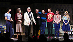 """Michael Hsu Rosen, Mercedes Ruehl, Moises Kaufman, Harvey Fierstein, Michael Urie, Ward Horton, Jack DiFalco and Roxanna Hope Radja  during the Broadway Opening Night Curtain Call for """"Torch Song"""" at the Hayes Theater on November 1, 2018 in New York City."""