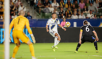 Julian Araujo #22 of the Los Angeles Galaxy moves with the ball