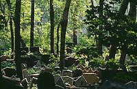 Tschechien, Prag, alter juedischer Friedhof, Unesco-Weltkulturerbe
