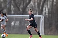 LOUISVILLE, KY - MARCH 13: Savannah McCaskill #7 of Racing Louisville FC looks to pass the ball during a game between West Virginia University and Racing Louisville FC at Thurman Hutchins Park on March 13, 2021 in Louisville, Kentucky.