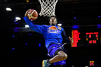 Kerwin Roach of the Wellington Saints warms up before the NBL match between the Wellington Saints and the Auckland Huskies at TSB Bank Arena, Wellington, New Zealand on Friday 28 May 2021.<br /> Photo by Masanori Udagawa. <br /> www.photowellington.photoshelter.com