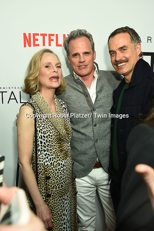 """actors Barbara Garrick, Michael Park & Murray Bartlett, all ex soap stars,who are all in this show,  attend Armistead Maupins """"Tales of The City""""  New York City Premiere on June 3, 2019 at The Metrograph in New York, New York, USA. The show will be on Netflix.com.<br /> <br /> photo by Robin Platzer/Twin Images<br />  <br /> phone number 212-935-0770"""
