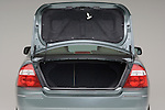 Straight rear view of a open trunk on a 2006 Ford Five Hundred Sedan