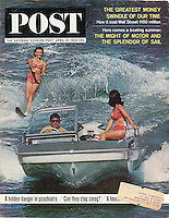 Saturday Evening Post, April 25, 1964, Summer Boats. Cover photo by John G. Zimmerman.