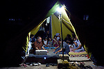 DOMIZ, IRAQ: Moussa Shibli and his family sit in their tent in the Domiz refugee camp...Over 7,000 Syrian Kurds have fled the violence in Syria and are living in the Domiz refugee camp in the semi-autonomous region of Iraqi Kurdistan...Photo by Ali Arkady/Metrography