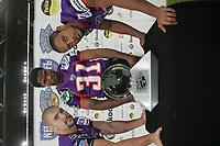 Safety Rob Lee, Cornerback Bill Alford und Safety Brandon Haw (alle Frankfurt Galaxy)