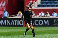 BRIDGEVIEW, IL - JUNE 5: Sarah Woldmoe #16 of the Chicago Red Stars looks on during a game between North Carolina Courage and Chicago Red Stars at SeatGeek Stadium on June 5, 2021 in Bridgeview, Illinois.