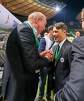 Niko KOVAC, Trainer FRA  celebrates and Peter FISCHER, president Eintracht Frankfurt, <br /> Football DFB Pokal Finale , Berlin,19.05.2018<br /> FC BAYERN MUENCHEN - EINTRACHT FRANKFURT<br /> 1718 ,  2017 / 2018, DFB-Pokal<br />  <br />  *** Local Caption *** © pixathlon<br /> Contact: +49-40-22 63 02 60 , info@pixathlon.de