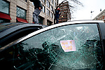 A limousine parked at the North side of Franklin Sq park, in Washington, D.C. is vandalized and later set ablaze as protests erupt after Donald Trump becomes the 45th President of the United States, on January 20th, 2017, in Washington D.C.