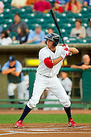 Kelly Dugan (32) of the Lakewood BlueClaws at bat against the Kannapolis Intimidators at FirstEnergy Park on August 8, 2012 in Lakewood, New Jersey.  The BlueClaws defeated the Intimidators 5-0.  (Brian Westerholt/Four Seam Images)