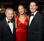 Jim Mulva with Soraya and Scott McClelland at the American Heart Association Heart Ball at the Hilton Americas Houston Saturday Feb 07, 2009.(Dave Rossman/For the Chronicle)