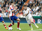 Real Madrid's Isco (r) and Atletico de Madrid's Tiago Mendes during Champions League 2014/2015 Quarter-finals 2nd leg match.April 22,2015. (ALTERPHOTOS/Acero)