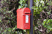 Letter box on a telegraph pole on a country road in Buckinghamshire