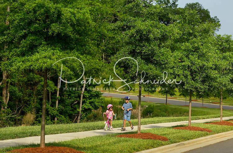 Lifestyle photography of Berewick, a 1,000-acre neighborhood development in Charlotte, NC (Steel Creek Area). Berewick was developed by Pappas Properties.