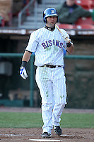 Buffalo Bisons outfielder Jason Pridie #10 during a game against the Syracuse Chiefs at Dunn Tire Park on April 7, 2011 in Buffalo, New York.  Syracuse defeated Buffalo 8-5.  Photo By Mike Janes/Four Seam Images