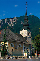 Slowenien, Triglav-Gebirge, Kirche in Kraniska Gora