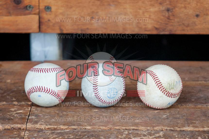 NCAA baseballs on June 18, 2015 at TD Ameritrade Park in Omaha, Nebraska. (Andrew Woolley/Four Seam Images)